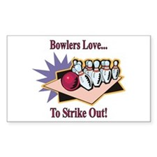 Bowlers Love... Rectangle Decal