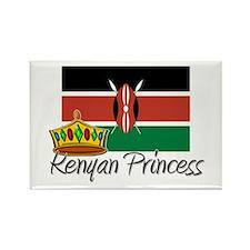 Kenyan Princess Rectangle Magnet