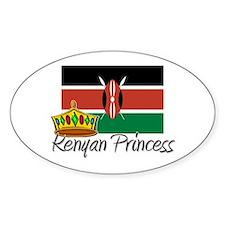 Kenyan Princess Oval Decal