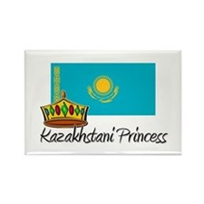 Kazakhstani Princess Rectangle Magnet