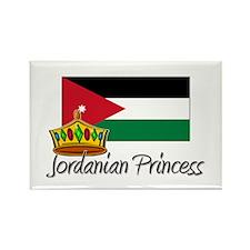 Jordanian Princess Rectangle Magnet