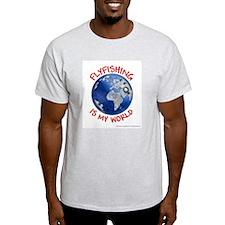 Flyfishing is my World Ash Grey T-Shirt
