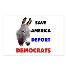 DEPORT DEMOCRATS Postcards (Package of 8)
