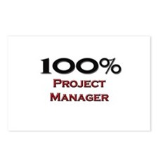 100 Percent Project Manager Postcards (Package of
