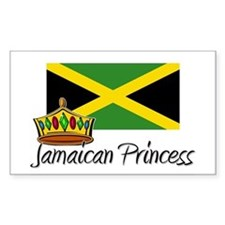 Jamaican Princess Rectangle Decal