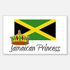 Jamaican Princess Rectangle Decal