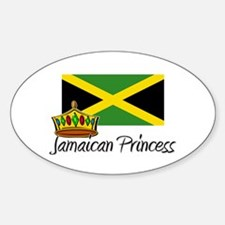 Jamaican Princess Oval Decal