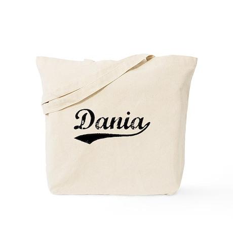 Vintage Dania (Black) Tote Bag