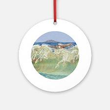 KING NEPTUNE'S HORSES Ornament (Round)
