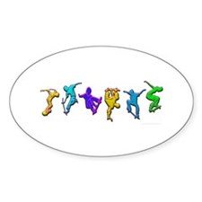 SKATERS Oval Decal