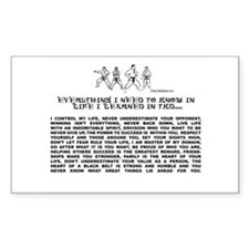 everything I need to know in life-TKD Stickers