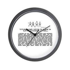 everything I need to know in life-TKD Wall Clock