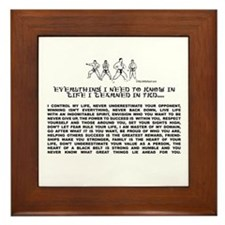 everything I need to know in life-TKD Framed Tile