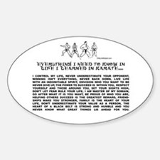 everything I need to know in life-Karate Decal