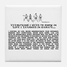everything I need to know in life-Karate Tile Coas
