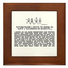 everything I need to know in life-Karate Framed Ti