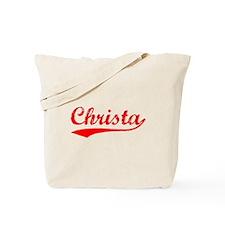 Vintage Christa (Red) Tote Bag
