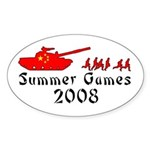 2008 Summer Games Oval Sticker