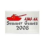 2008 Summer Games Rectangle Magnet