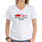 2008 Summer Games Women's V-Neck T-Shirt
