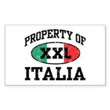 Property of Italia Rectangle Decal
