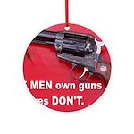 Free Men Own Guns Ornament (Round)