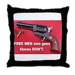 Free Men Own Guns Throw Pillow