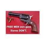 Free Men Own Guns Rectangle Magnet (100 pack)