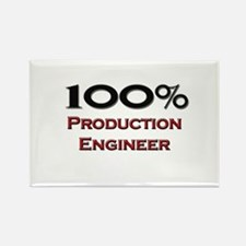 100 Percent Production Engineer Rectangle Magnet