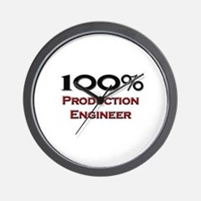 100 Percent Production Engineer Wall Clock