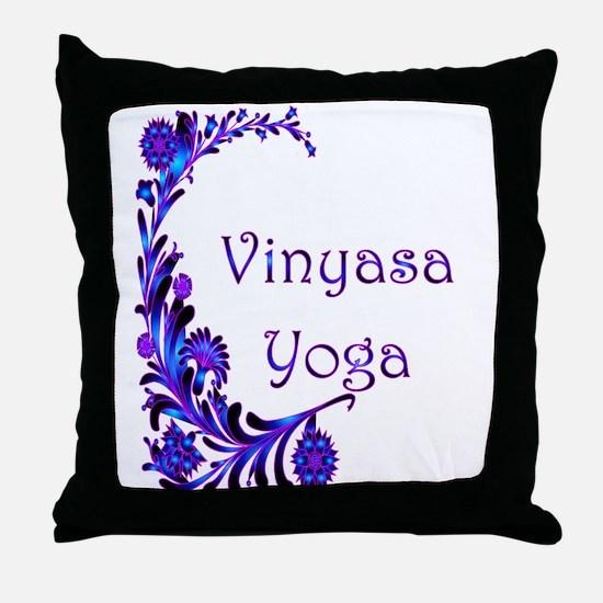 Vinyasa Flow Yoga Throw Pillow
