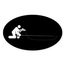 """Universal Angler"" Oval Decal"