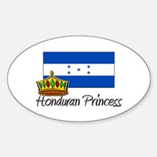 Honduran Princess Oval Decal