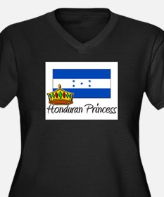 Honduran Princess Women's Plus Size V-Neck Dark T-
