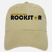 Kayaking Rockstar Baseball Baseball Cap