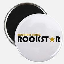 Mountain Biking Rockstar Magnet