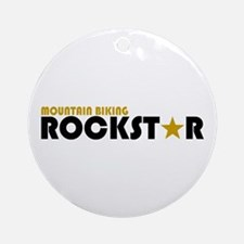 Mountain Biking Rockstar Ornament (Round)