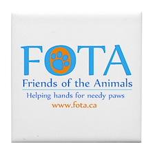 Cute Shelter cat Tile Coaster