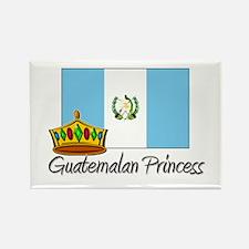 Guatemalan Princess Rectangle Magnet
