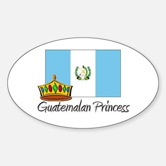 Guatemalan Princess Oval Decal