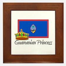 Guamanian Princess Framed Tile