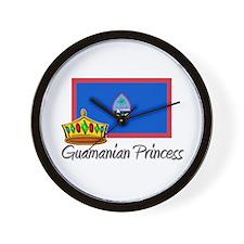 Guamanian Princess Wall Clock