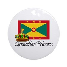 Grenadian Princess Ornament (Round)