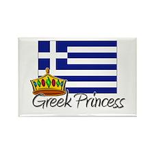 Greek Princess Rectangle Magnet