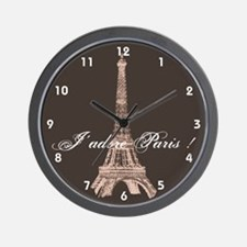 Paris Wall Clock - Eiffel Tower