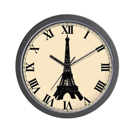 Paris Wall Clock Eiffel Tower By Inamar