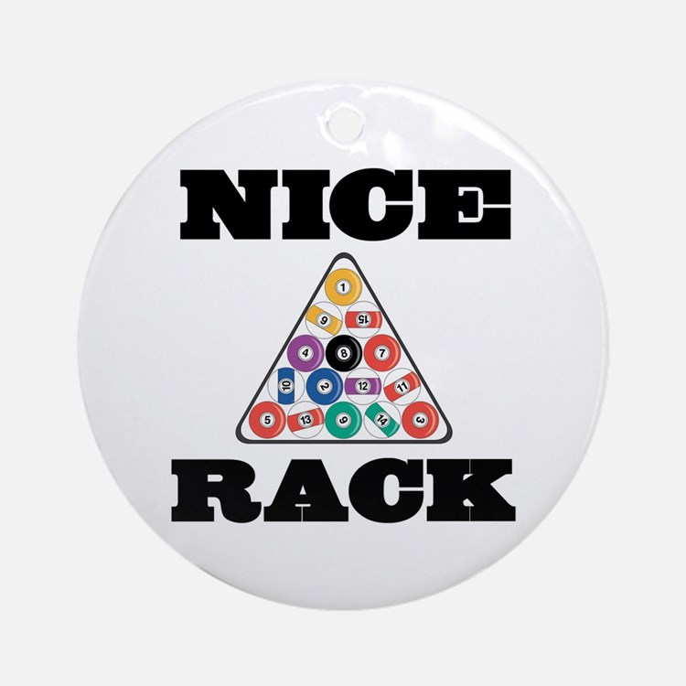 Pool Nice Rack Ornament (Round)