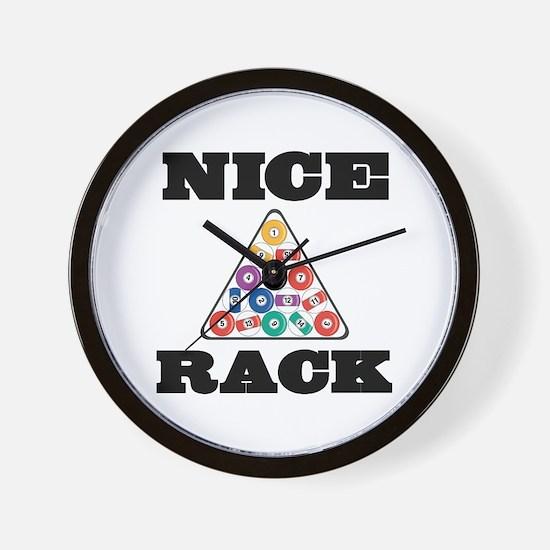 Pool Nice Rack Wall Clock