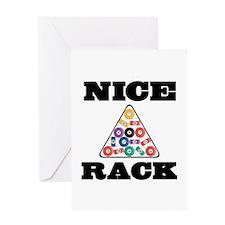 Pool Nice Rack Greeting Card