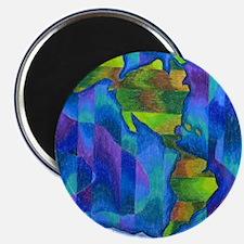 """Planet Earth Art 2.25"""" Magnet (100 pack)"""